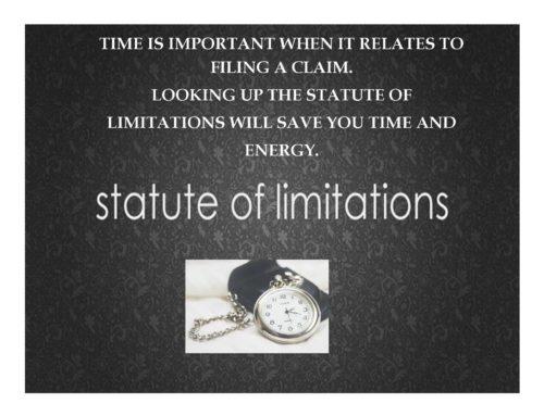 KNOW YOUR RIGHTS-STATUTE OF LIMITATIONS