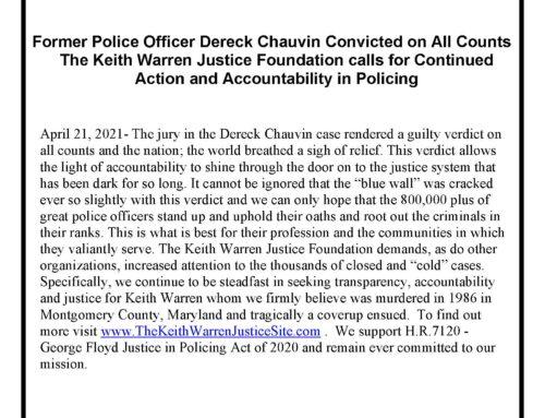 Statement on the Derek Chauvin verdict